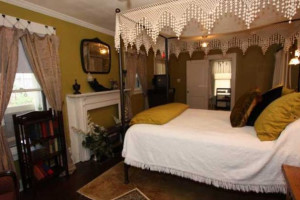 Guest bedroom at First Class Bed & Breakfast.