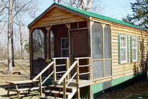 Cabin exterior at MarVal Resort.
