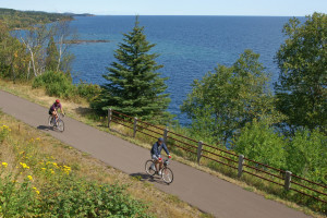 Biking at The Mountain Inn at Lutsen.