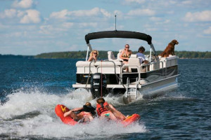 Lake activities at Alhonna Resort.
