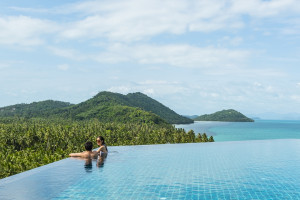 Outdoor pool at InterContinental Samui Baan Taling Ngam Resort.