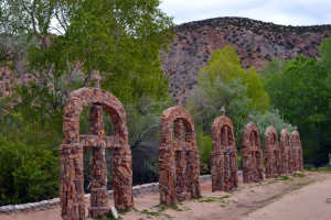Historic graves from the Village of Chimayo near Hotel Chimayo de Santa Fe.