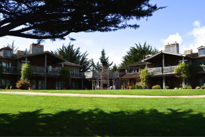 Exterior view of Costanoa Coastal Lodge and Camp.