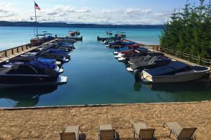 Beach view at Glen Craft Marina and Resort.