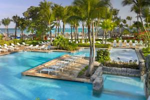 Outdoor pool at Hyatt Regency Aruba Resort Spa and Casino.