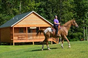 Horseback riding at Creekside Resort.