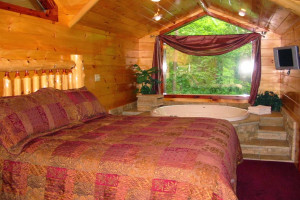Guest room at Enchanted Forest Resort.