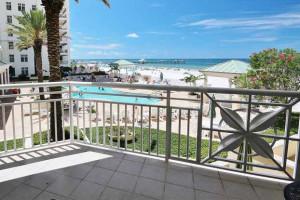 Balcony view at Teeming Vacation Rentals.