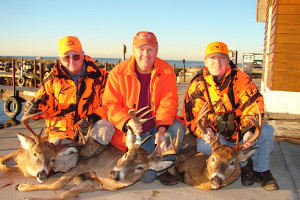 Deer hunting at Arnesen's Rocky Point Resort.