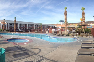 Outdoor pool at St. George Inn & Suites.