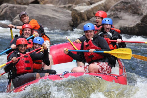 River rafting near Ampersand Bay Resort & Boat Club.