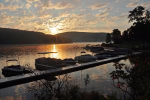 Lake view at Deep Creek Vacations.