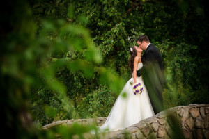 Wedding couple at Old Kinderhook Resort & Golf Club.