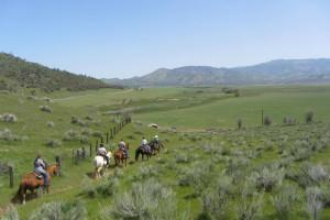 Horseback riding at Rankin Ranch.