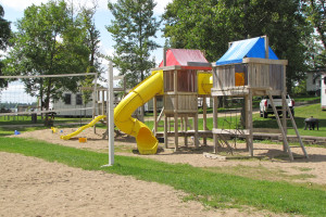 Kid's playground at Mill Lake Resort.