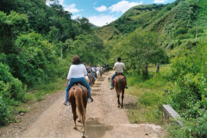 Horseback riding at Hacienda Primavera Wilderness Ecolodge.