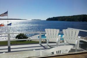 Ocean view at Linekin Bay Resort.