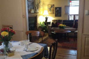 Dining and living room at Holiday Lodge Bed & Breakfast.