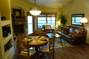 Condo interior at Ruidoso River Resort and Inn.