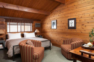 Guest room at Good Medicine Lodge.