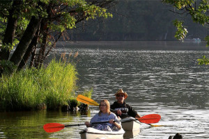 Kayaking at Wild Eagle Lodge.