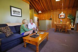 Cottage interior at Bluff Point Golf Resort.