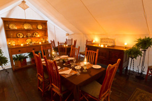 Dining room at Clayoquot Wilderness Resort.