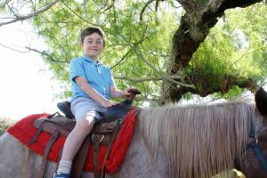 Pony rides at Smoke Tree Ranch.