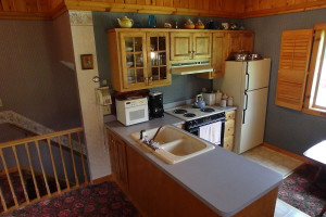 Guest kitchen at The Alpine Inn.