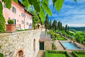 Outdoor pool at Villa Barberino.
