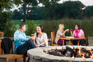 Relax by the fire at Eaglewood Resort.