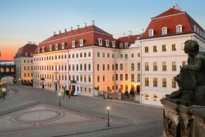 Exterior view of Kempinski Hotel Taschenbergpalais Dresden.