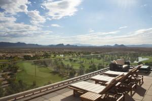 Sunning in the AZ heat at Talking Stick Resort
