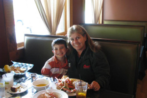 Family dining at Copperhead Lodge.