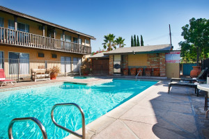 Outdoor pool at Lemon Tree Hotel.