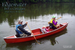 Canoeing at Edgewater Inn & Cottages.