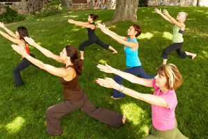 Yoga classes at Ste. Anne's Spa.