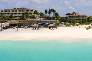 Exterior view of Bucuti Beach Resort Aruba.