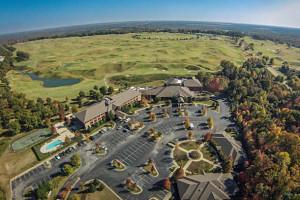 Aerial view of Montgomery Marriott Prattville Hotel.
