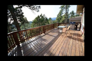 Rental deck at The Casas of 4 Seasons.