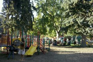Playground near downtown at Jorgenson's Inn & Suites.