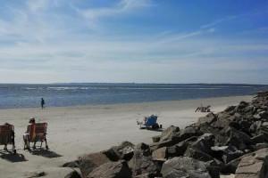 The beach at Hodnett Cooper.
