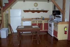Kitchen area at Cornerstone Suites.