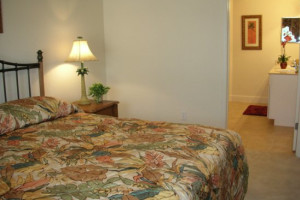 Guest bedroom at Elite Vacation Homes.