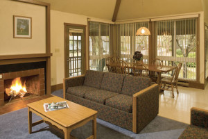 Living Room at Wyndham Vacation Resorts Shawnee Village.