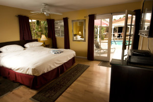 Guest room at LA Dolce Vita Resort.