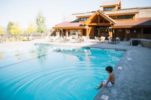 Outdoor pool at Teton Springs Lodge.