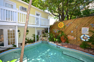 Outdoor pool at Garden House Bed & Breakfast.