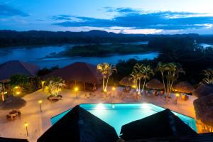 Outdoor pool at Casa Del Suizo and Sacha lodge.
