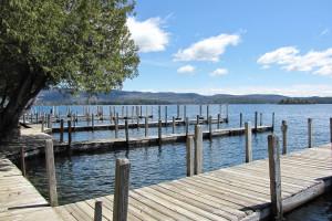 Fishing pier at The Depe Dene Resort.